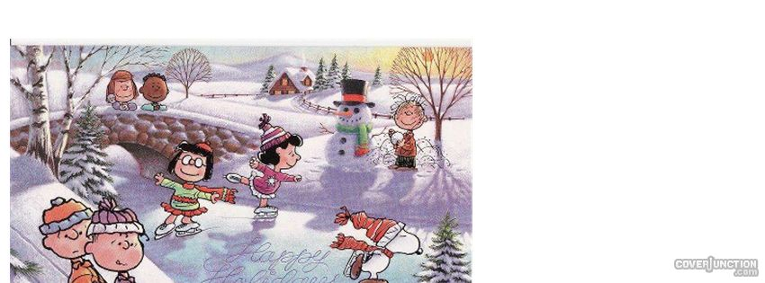 Peanuts Christmas Facebook Cover