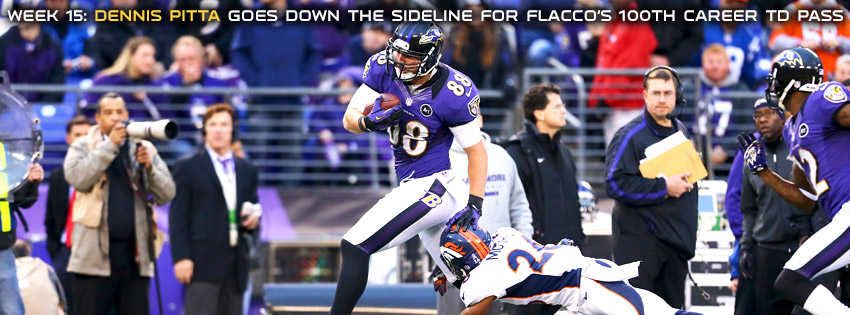 Baltimore Ravens 2012 Week 15: Dennis Pitta Scores on Joe Flacco's 100th Career TD Pass Facebook Cover