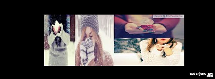 Teens in Winter Facebook Cover
