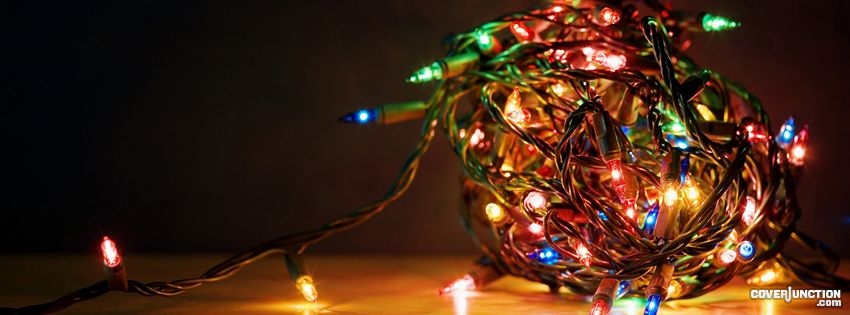 Ball of Christmas Lights Facebook Cover