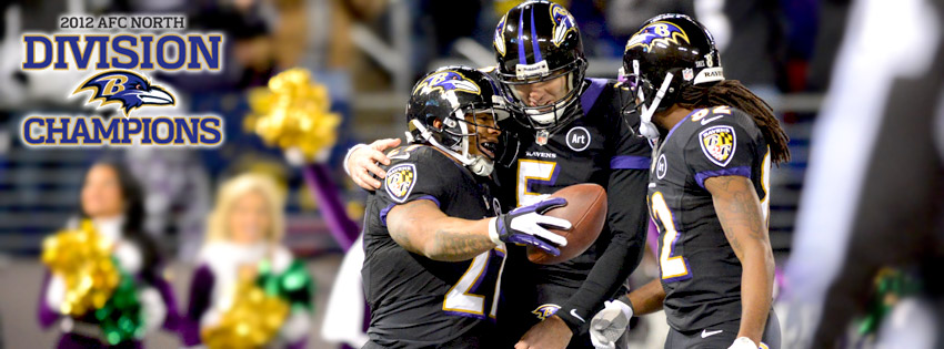 Baltimore Ravens 2012 AFC North Champions Facebook Cover