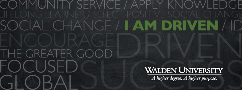 Walden University   I am drive facebook cover