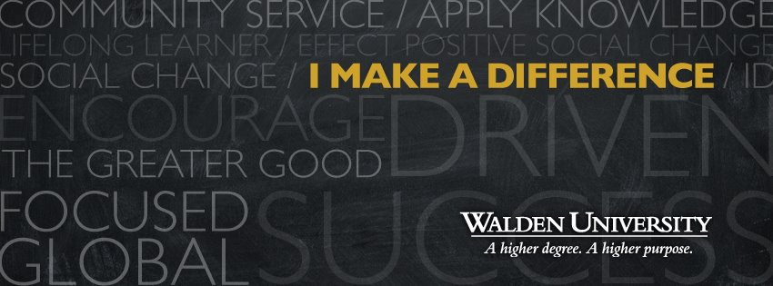 Walden University   I make a difference facebook cover