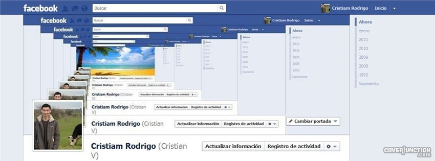"Feedback loop into my profile "" facebook cover by cristia"