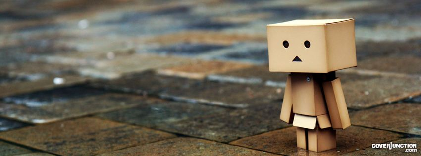 Danbo in the rain facebook cover