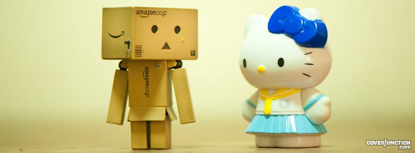 Danbo and Hello Kitty facebook cover