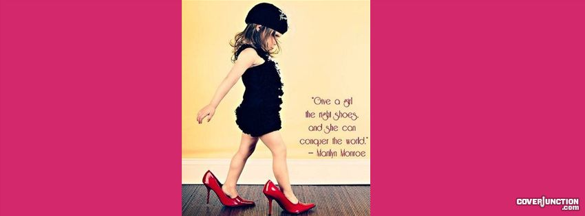 girl and her shoes Facebook Cover