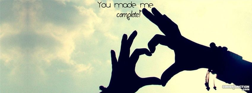 u made me complete Facebook Cover