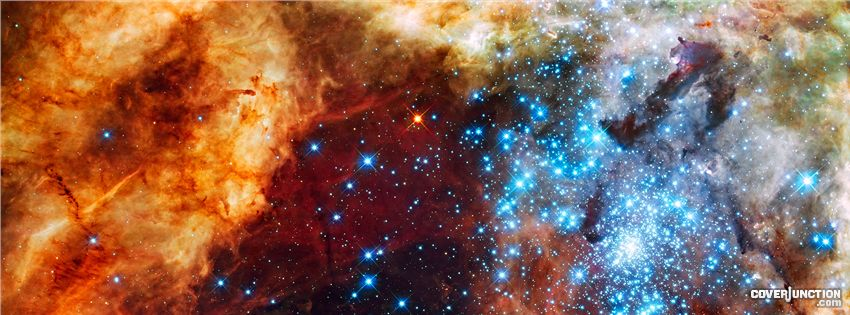 Massive star clusster. Hubble Telescope Facebook Cover