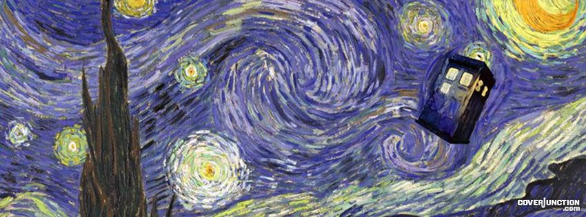 starry night tardis Facebook Cover