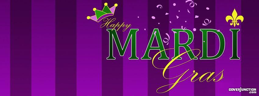 Happy Mardi Gras Facebook Cover