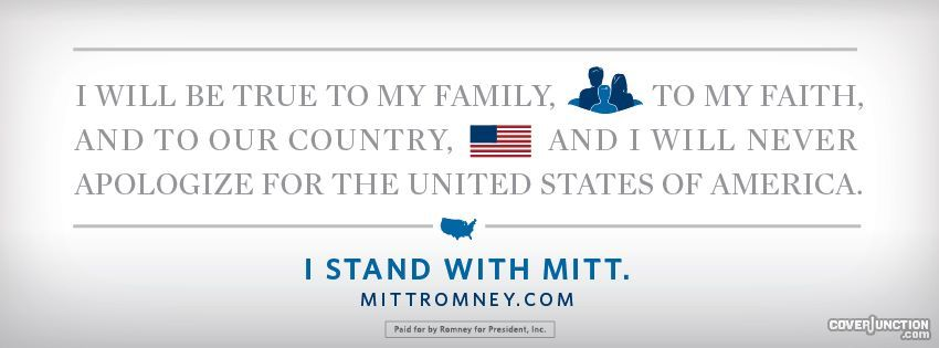 Mitt Romney Facebook Cover - CoverJunction