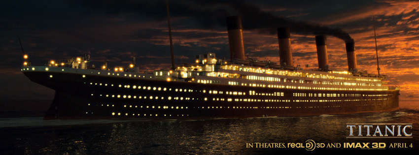 The 'Unsinkable' Ship at Night facebook cover
