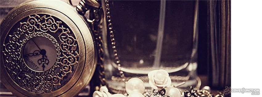 gold clock Facebook Cover