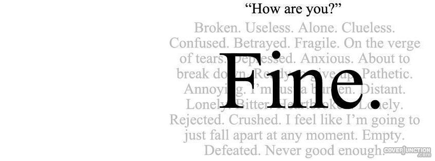 I&#39;m Fine  Facebook Cover