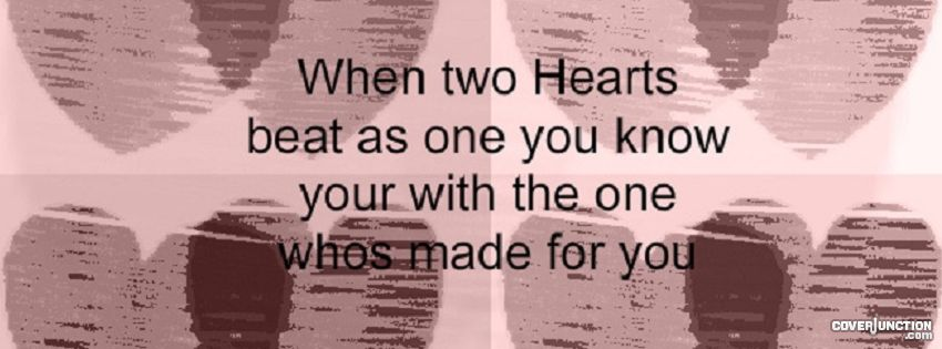 Hearts With A Quote Facebook Cover