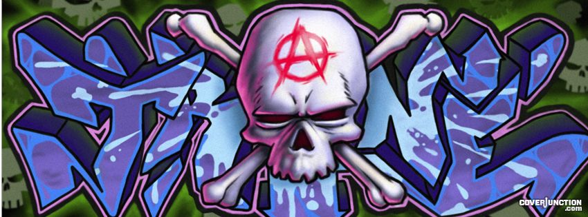 Graffiti Skull facebook cover