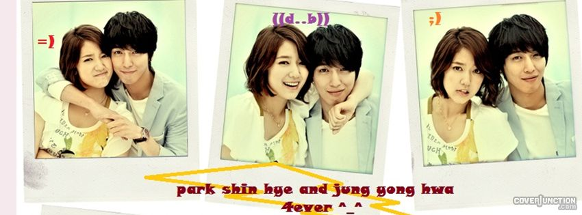 jung yong hwa and park shin hye Facebook Cover