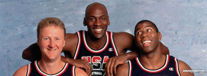 Larry Bird - Michael Jordan - Magic Johnson facebook cover