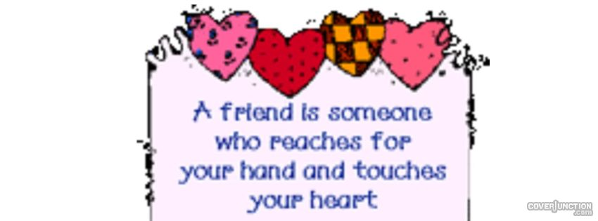 Friendship Quote With Hearts facebook cover
