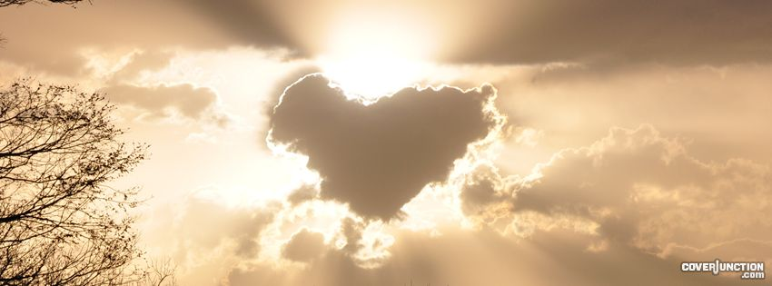 Heart in the clouds Facebook Cover