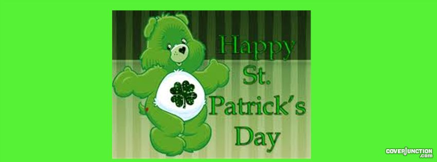 Carebear Patrick's day Facebook Cover