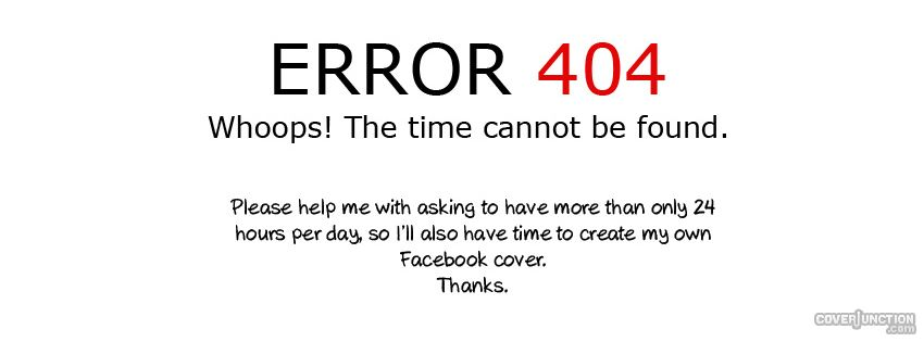 error 404 Facebook Cover - CoverJunction