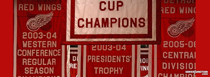 Detroit Red Wing Banners  facebook cover