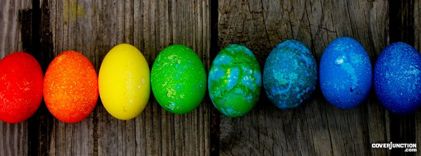 Easter - painted eggs facebook cover