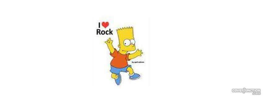 i love rock Facebook Cover