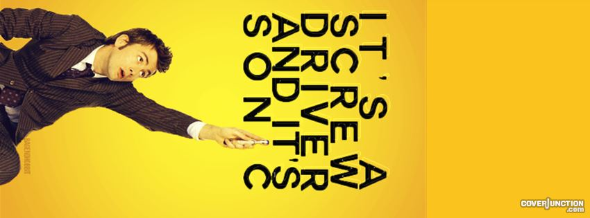 10th Doctor - screwdriver facebook cover