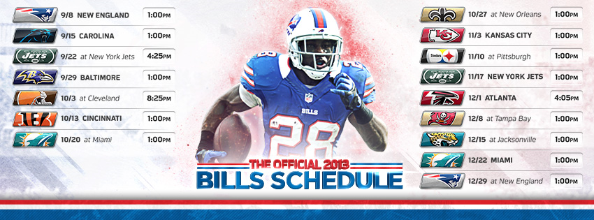 2013 Buffalo Bills Schedule Facebook Cover