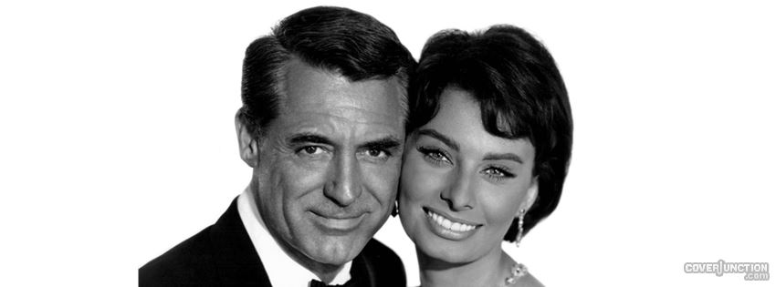 COVER JUNCTION Life and Art - Cary Grant and Sophia Loren facebook cover