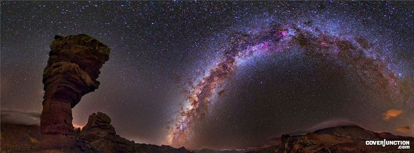 COVER JUNCTION Astronomy pic of the day - April 29 2013 Milky Way and Stone Tree Facebook Cover