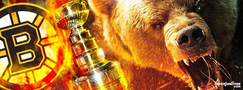 Boston Bruins Fear the Bear 2 Facebook Cover