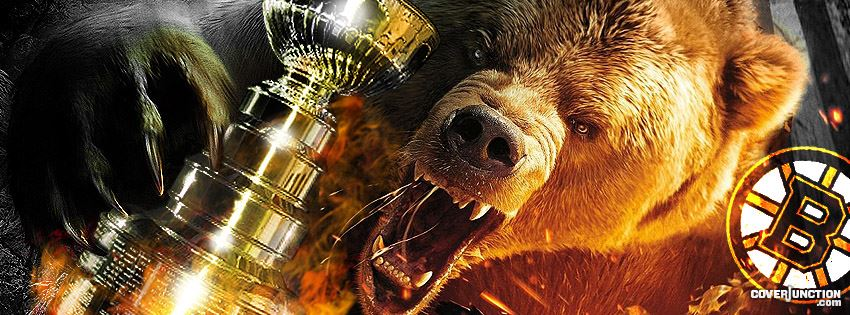 Boston Bruins Fear the Bear 3 facebook cover