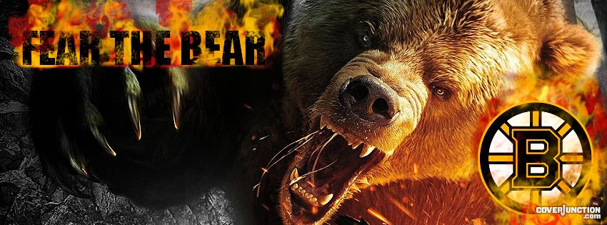 Boston Bruins Fear the Bear facebook cover