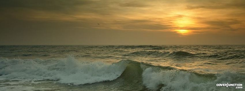 COVER JUNCTION negis art - Sergey Dimchenko - sunset over gentle waves Facebook Cover