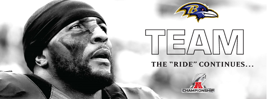 Baltimore Ravens 2012 TEAM:  The Ride Continues Facebook Cover