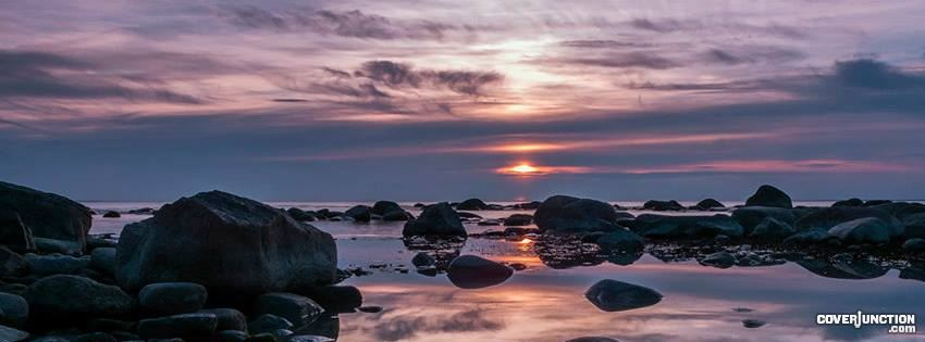 2013 05 26 Fotografci Alexander Abrosimov - sunset over waves and rocks Facebook Cover
