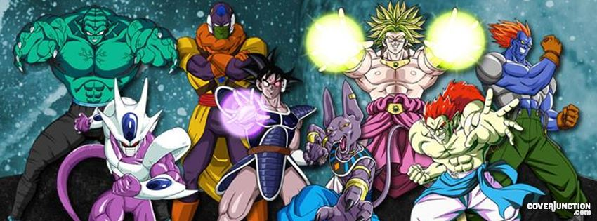 Dragon ball movie villains Facebook Cover