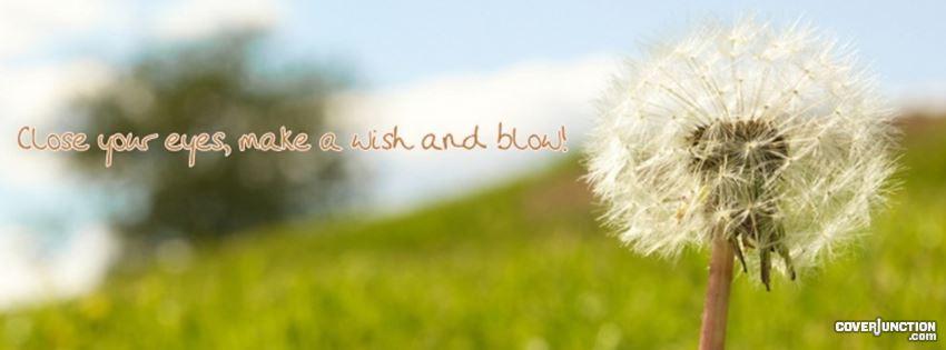 Make a wish! facebook cover