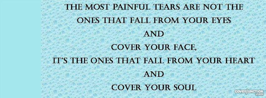 Painful tears facebook cover