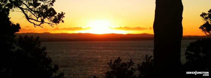 New Zealand Sunset Auckland facebook cover