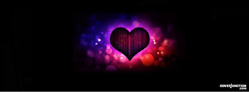 Multi-Colored Heart Facebook Cover