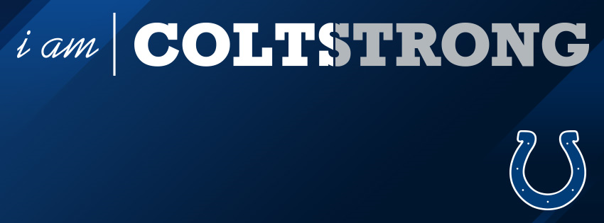 I am COLTSTRONG (Blue) Facebook Cover