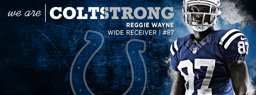 Reggie Wayne is COLTSTRONG  Facebook Cover