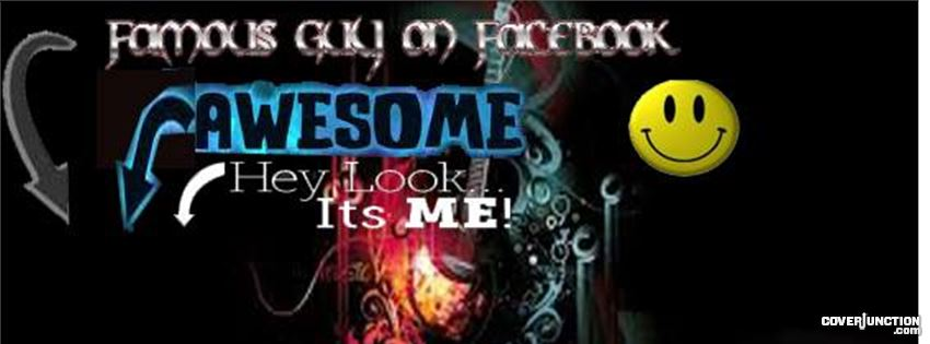 Famous,Awesome titled cover facebook cover