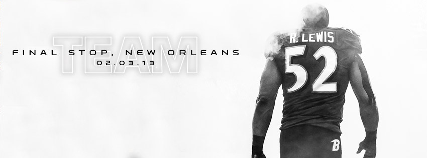 Baltimore Ravens 2012 TEAM:  Final Stop, New Orleans Facebook Cover