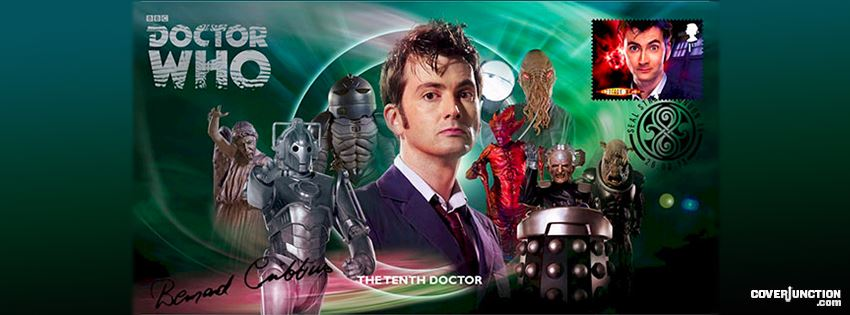 The Tenth Doctor 50th Anniversary  - Doctor Who Facebook Cover